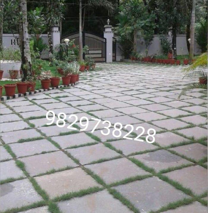 Rough kota stone flooring for parking