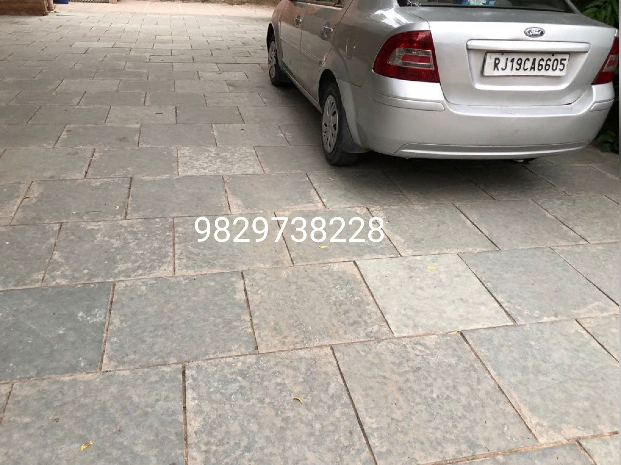 kota stone for parking