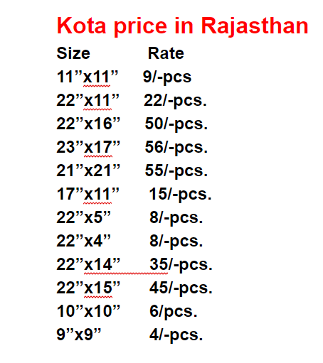 kota stone price